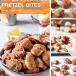 Instant Pot Apple Cinnamon Pretzel Bites are an absolutely perfect fall treat. Have some sprinkled with cinnamon sugar or without. Both are delicious, soft, chewy, and spiced. Made with apple cider and apples, they will become your favourite fall recipe | imagelicious.com #instantpot #pretzels #applerecipes