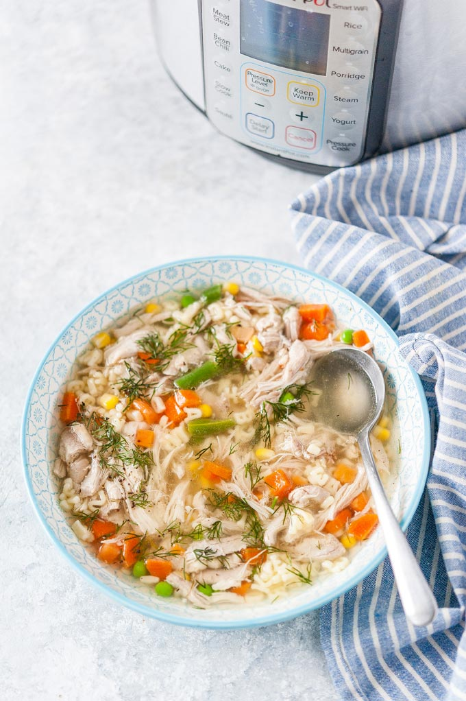 Chicken Noodle Soup in a bowl.