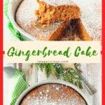 This Vegan Gingerbread Cake is perfect for breakfast with a mug of coffee or an afternoon snack with a cup of tea. It's deliciously spicy and soft and light. Easy one-bowl dessert that can be made even during the busiest holiday season | Imagelicious.com #gingerbread #vegancake