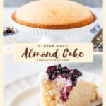 This Gluten-Free Almond Cake is made with egg whites only so it is much lighter than the traditional almond cakes. It is delicious, soft, and incredibly addictive. Very easy to make and perfect for any occasion | imagelicious.com #almondcake #glutenfreecake #eggwhitescake