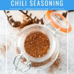 Homemade Chili Seasoning is easy to make. You know exactly what goes into the mix and can control how spicy or salty it is. It also is a fraction of a cost of prepackaged mixes. Great edible gift | imagelicious.com #chiliseasoning #homemadespices