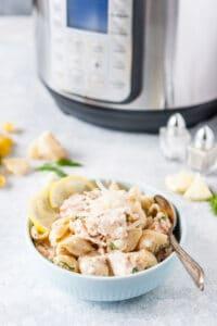 Bowl of Salmon Pasta.