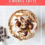 Instant Pot S'Mores Latte is a delicious coffee drink that is perfect for a special occasion. Smooth, creamy, sweet with the smell of campfire marshmallows. Great holiday coffee drink made easy in an electric pressure cooker | imagelicious.com #smores #smoreslatte #coffee #instantpot