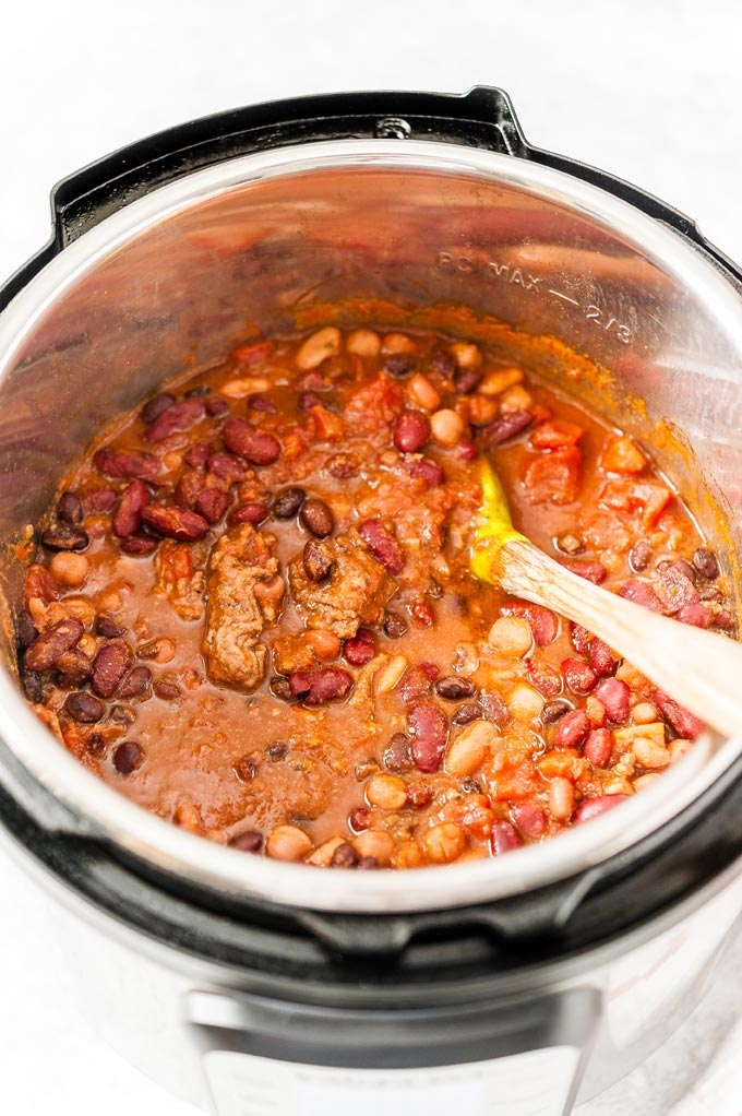 Chili in Instant Pot.
