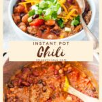 Instant Pot Chili is delicious, easy, and healthy meal. It's a perfect dump & start recipe and great for weeknight dinners. Use for meal prepping as leftovers are great for reheating | imagelicious.com #instantpotrecipes #instantpotchili