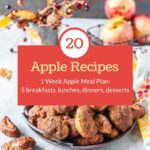 This Apple Meal Plan uses apples in every meal. 5 breakfasts, 5 lunches, 5 dinners, and even a few desserts. All using fresh local apples | imagelicious.com #apples #mealplan