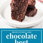 Vegan Chocolate Beet Cake is delicate, lightly sweetened, and delicious! It's a true one-bowl recipe and requires only a few minutes to mix together | imagelicious.com #vegancake #chocolatecake