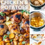 Instant Pot Greek Lemon Chicken and Potatoes is a complete, delicious, and flavourful meal made. Juicy chicken, tender potatoes, and amazing lemon gravy. It's the ultimate chicken dinner that is 100% better than take out | imagelicious.com #instantpotrecipes #instantpotchicken #lemonchicken