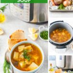 Canned Salmon soup is delicious, healthy, and really easy to make. It is also affordable and uses mostly ingredients that last for a very long time. It can be made on the stove or in Instant Pot for convenience   imagelicious.com #cannedsalmon #salmonsoup #fishsoup #instantpotrecipes