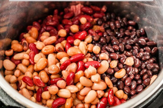 Instant Pot with beans.